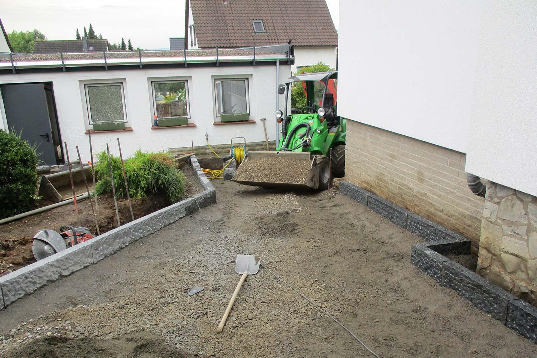 Sanierung einer vorh. Zufahrt, sowie eines Eingangsbereiches